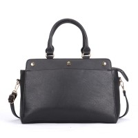 VK5317 Black - Plain Oversized Women Tote Bag With Strap