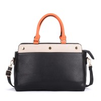 VK5317 Orange - Plain Oversized Women Tote Bag With Strap