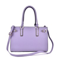 VK5320 Purple - Metal Boxy Tote Bag With Shoulder Strap