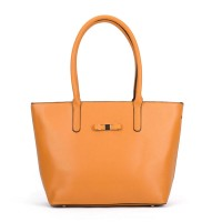 VK5323 Yellow - Classic Large Box Winged Tote Bag