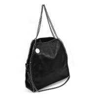 VK5326-1 Black - Retro Bucket Bag With Chain Handel