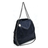 VK5326-1 Blue - Retro Bucket Bag With Chain Handel
