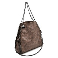 VK5326-1 Bronze - Retro Bucket Bag With Chain Handel