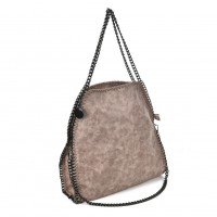 VK5326-1 Pink - Retro Bucket Bag With Chain Handel