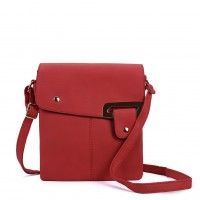 VK5340 Red - Classic Flap Cross Body Bag