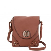 VK5344 Tan - Cross Body Bag With Metal Detail
