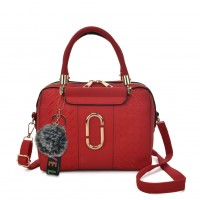 VK5379 Red - Tote Bag With Metal Detail