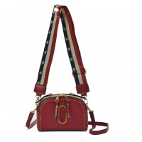 VK5382 Red - Cross Body Bag With Stars And Stripes Shoulder Straps
