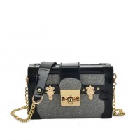 VK5386 Grey - Luxurious Cross Body Bag With Folding Flap Closure