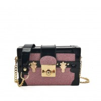 VK5386 Pink - Luxurious Cross Body Bag With Folding Flap Closure
