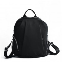 VK5418 Black - Backpack With Two Side Pockets