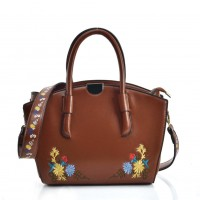 VK5444 Brown - Superior Quality Dual-Use Handbag With Embroidery Design