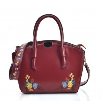 VK5444 Red - Superior Quality Dual-Use Handbag With Embroidery Design