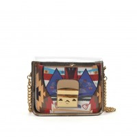 VK5453 Apricot - Lucency Cross Body Bag With Geometric Patterns