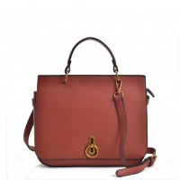 VK5455 Orange - Cross Body Bag With Special Lock Detail