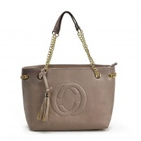 VK5472 Apricot - Women Handbag With Tassel Trim