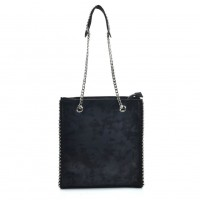 VK5474 Black - Women Handbag With Long Chain Handles
