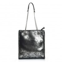VK5474 Grey - Women Handbag With Long Chain Handles