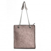VK5474 Pink - Women Handbag With Long Chain Handles