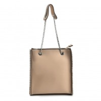 VK5475 Apricot - Handbag With Long Chain Handles For Ladies
