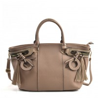 VK5479 Apricot - Dual-Use Handbag With Multiple Zipper Design
