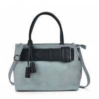 VK5484 Blue - Attractive Belt Design Handbag For Women