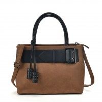 VK5484 Brown - Attractive Belt Design Handbag For Women