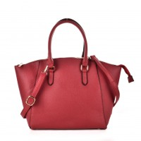 VK6021 Red - Women Casual Solid Large Handbag