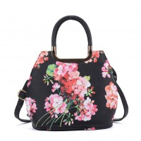 VK8888-4 - Fashion Floral Tote Bag With Metal Detail
