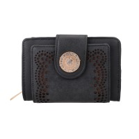 VKP1346-1 Black - Women's Hollow Purse With Crystal