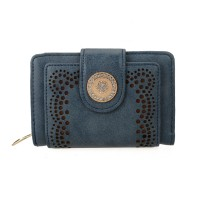 VKP1346-1 Blue - Women's Hollow Purse With Crystal