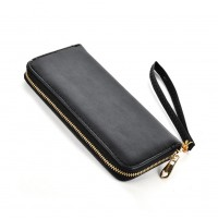 VKP1432 Black - Women Simple Solid Straps Purse