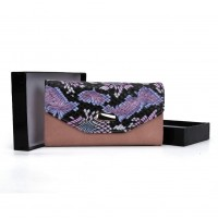 VKP1454 Pink - Colorful Snakeskin Women Hasp Fashion Wallet