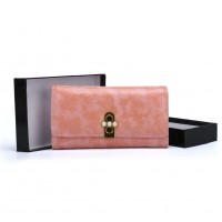 VKP1462 Pink - Solid Women Bead Decoration Wallet