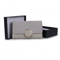 VKP1489 Light Grey - Solid Color Fashion Lady Wallet