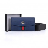 VKP1491 Blue - Fashion Women Patchwork Solid Wallet
