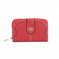 VKP1510 Red - New Style Women Short Card Wallet