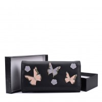 VKP1561 Black - New Style Lady Butterfly Wallet