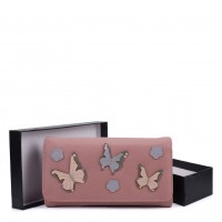 VKP1561 Pink - New Style Lady Butterfly Wallet