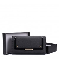 VKP1562 Black - Fashion Long Purse With Metal