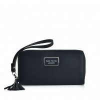 VKP1583 Black - Sally Young Fashion Wallet With Tassel Trims