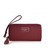 VKP1583 Red - Sally Young Fashion Wallet With Tassel Trims