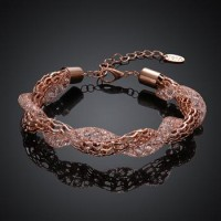 B001-C Hot Sell Crystal Chain Bracelet for Women Luxury High Quality Jewelry Christmas gift