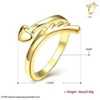 R069-A-8 Wholesale High Quality Nickle Free Antiallergic New Fashion Jewelry K Gold Plated Ring