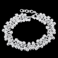 H232 Latest Women Classy Design silver plated bracelet Factory Direct Sale