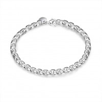 H157 Latest Women Classy Design silver plated bracelet Factory Direct Sale