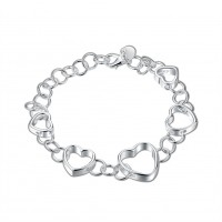 H141 Latest Women Classy Design silver plated bracelet Factory Direct Sale