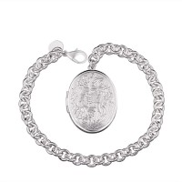 H349 Latest Women Classy Design silver plated bracelet Factory Direct Sale