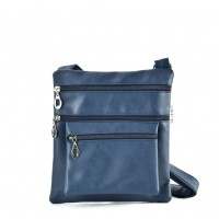 QQ2173 Blue - Fashion Zip Detail Cross Body Bag