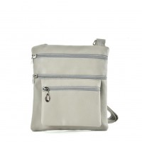 QQ2173 Grey - Fashion Zip Detail Cross Body Bag